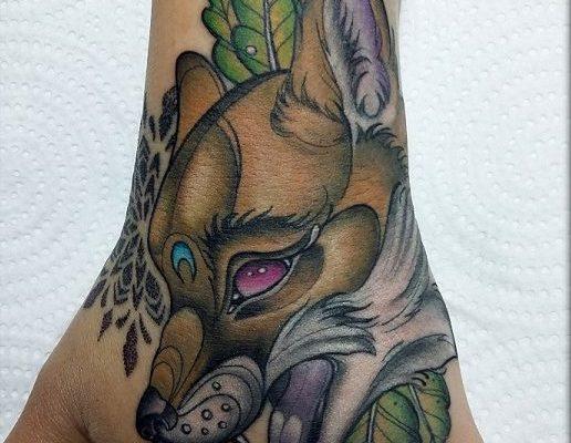 tatuaje de zorro
