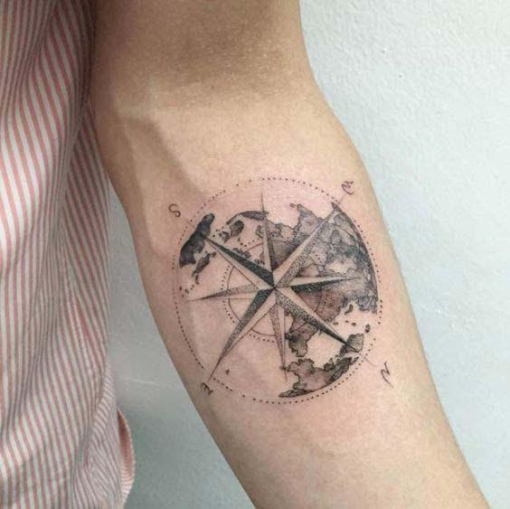 tatuajes de estrella polar