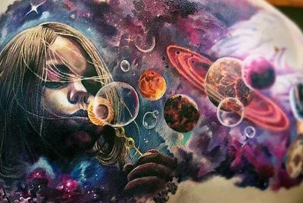 tatuaje del cosmos