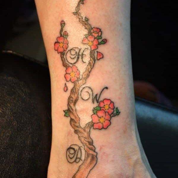 Tatuaje Flor de Cerezo