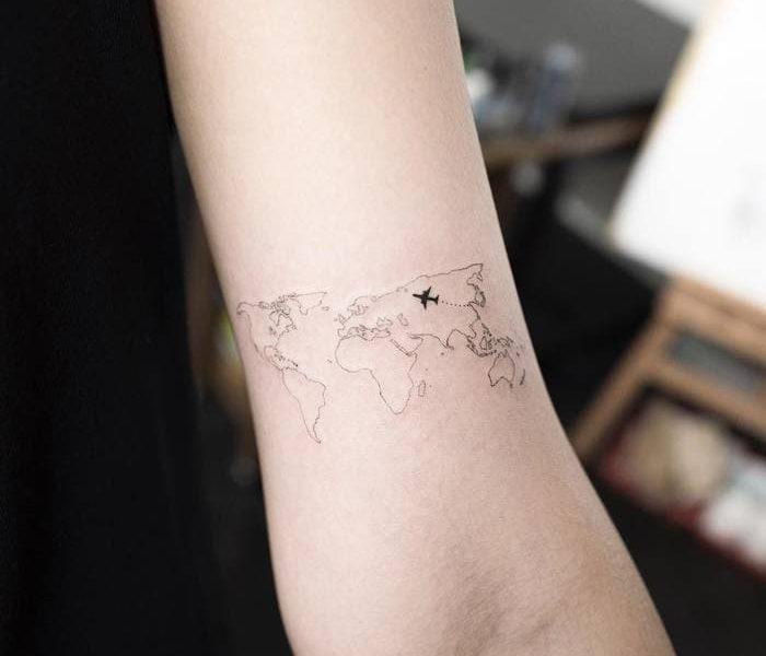 Tatuaje mapamundi