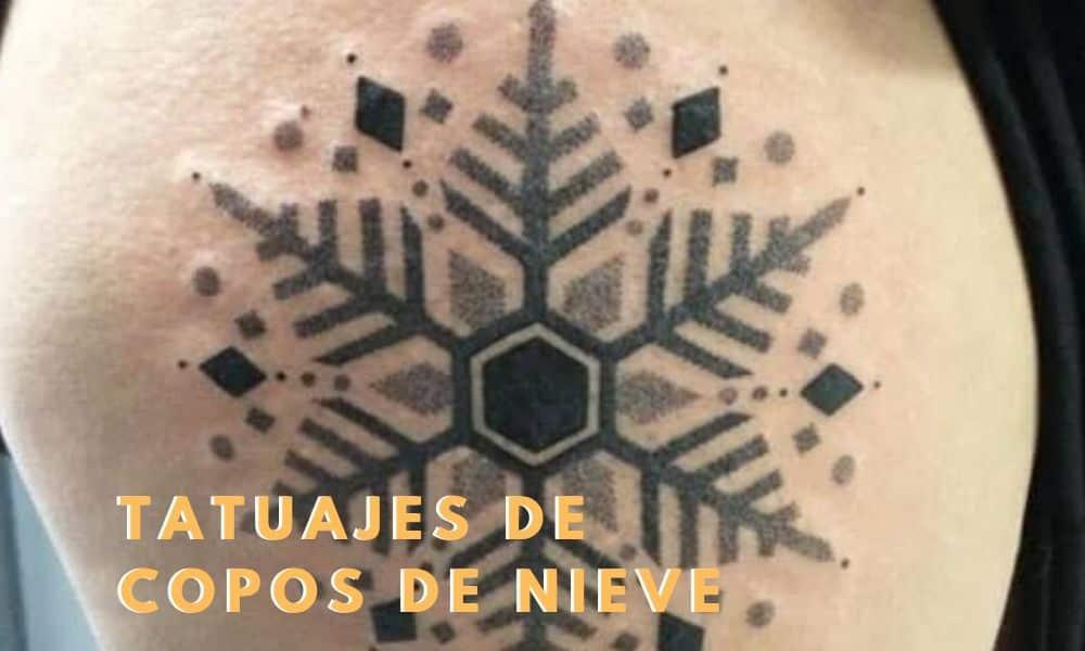 Tatuajes copo de nieve