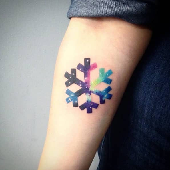 Tatuajes de Copo de Nieve