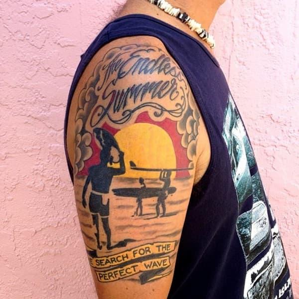 tatuaje surf brazo