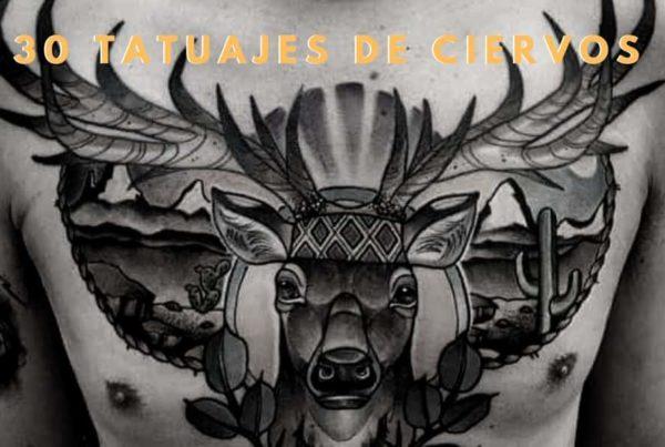30 ideas de tatuajes ciervos