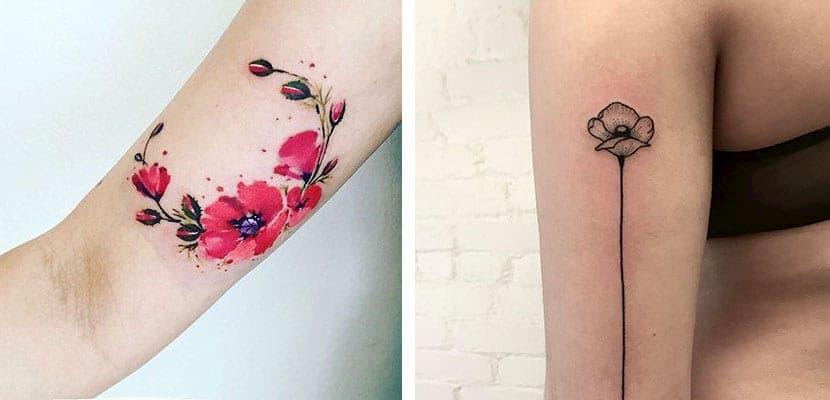 tatuaje amapola