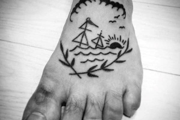 tatuaje pie